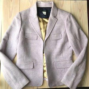 J. Crew Lavender Fitted 100% Wool Blazer Jacket